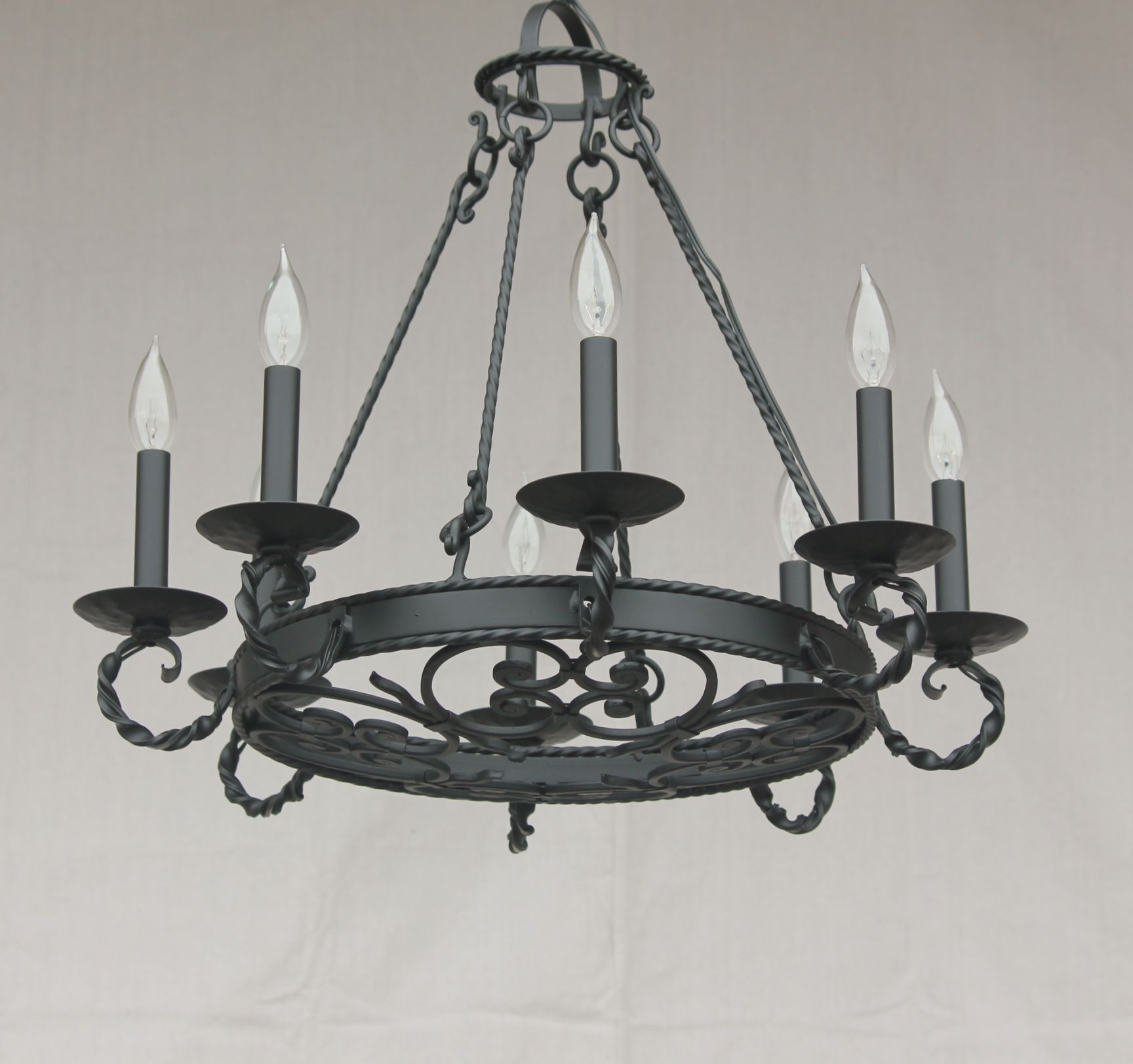 Lights Of Tuscany 1388 8 Spanish Style Wrought Iron Chandelier