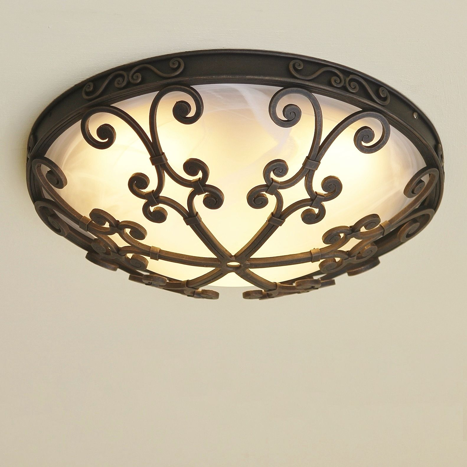 Lights Of Tuscany 6551 3 Spanish Style Flush Mount Ceiling Fixture