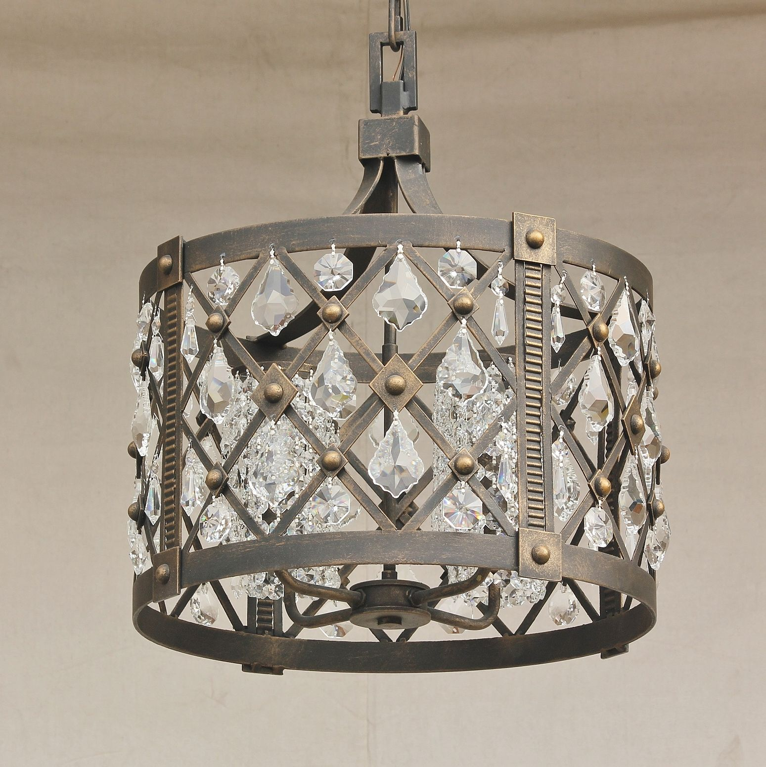 Lights Of Tuscany 8055 4 Crystal Contemporary Wrought Iron Chandelier